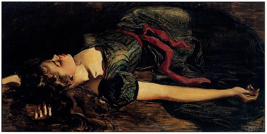 Марта Сойерс. Лежащая девушка