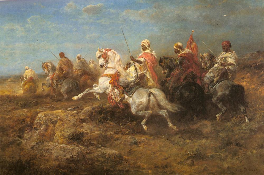 Адольф Шрейер. Арабский патруль