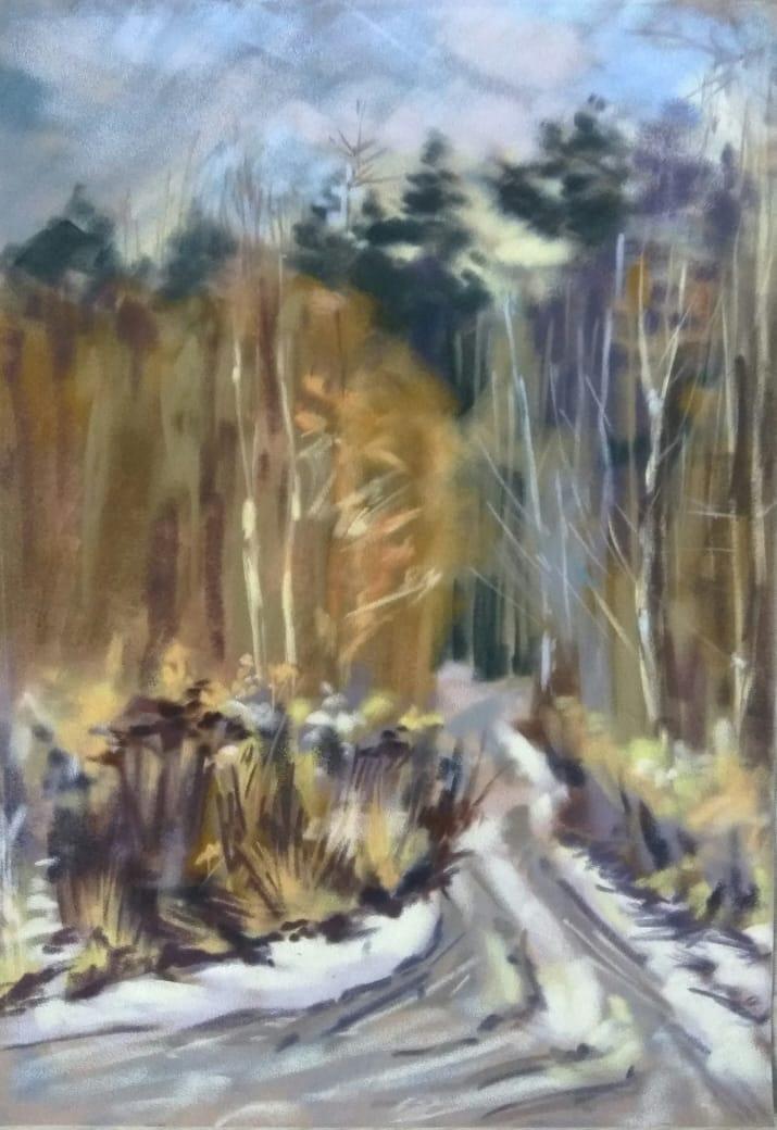 Evgenia Mikhailovna Troshina. Spring forest