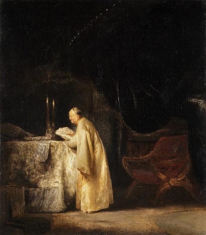 Ян Ливенс. Молитва Захарии в храме