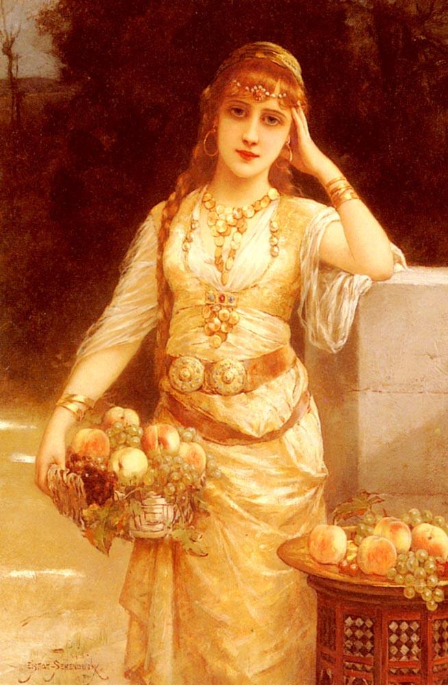 Эйзман Семеновски. Красавица с фруктами