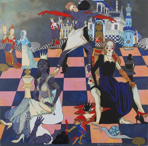 Ekaterina Belyavskaya. The Queen and officers