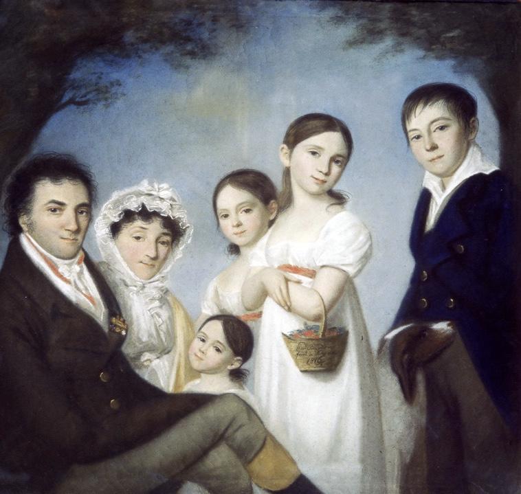 Karl Wilhelm Bardoux. Portrait of L. N. Engelhardt with his family