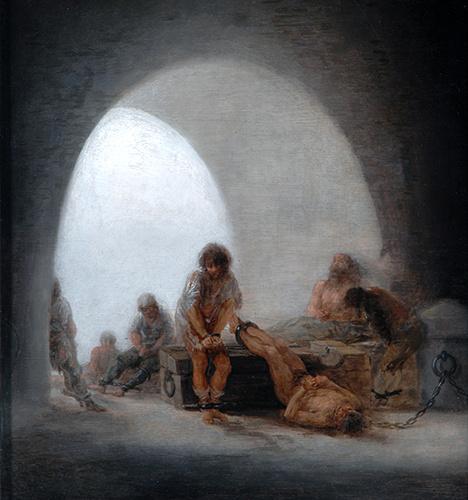 Francisco Goya. Prison interior