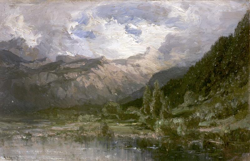 Алексей Петрович Боголюбов. Долина Рейна около Рагаца