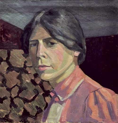 Elizabeth Sergeevna Potekhina. Self-portrait