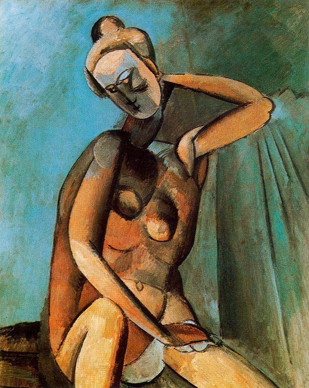 Пабло Пикассо. Женщина с опущенной головой