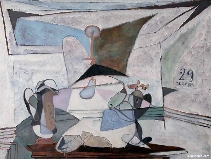 Пабло Пикассо. Натюрморт с лампой