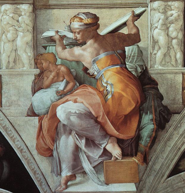 Микеланджело Буонарроти. Ливийская сивилла