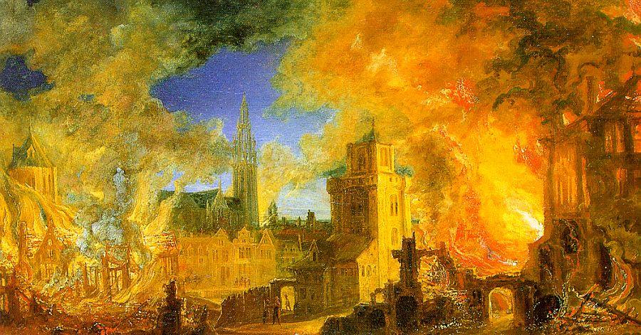 Даниэль ван Хайль. Пожар