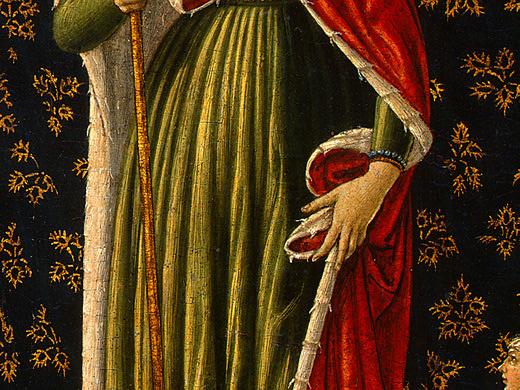 Беноццо Гоццоли. Святая Урсула с ангелами (фрагмент)