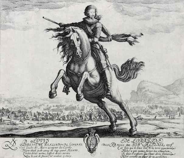 Жак Калло. Конный портрет принца Пфальцбургского