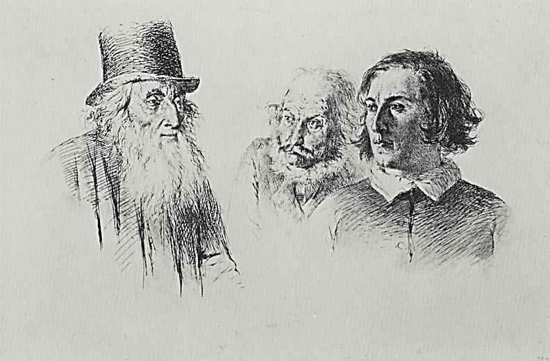 Адольф фон Менцель. Опыты в офорте