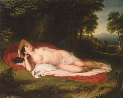 Asher Brown Durand. Reclining Nude grace