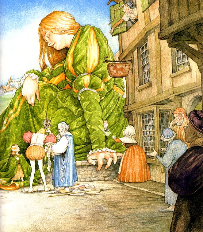 Patrick James Lynch. Illustration to the book Melisande 16