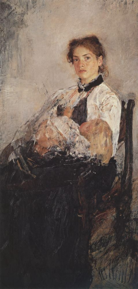 Valentin Aleksandrovich Serov. Portrait Of N. I. Derviz with the child