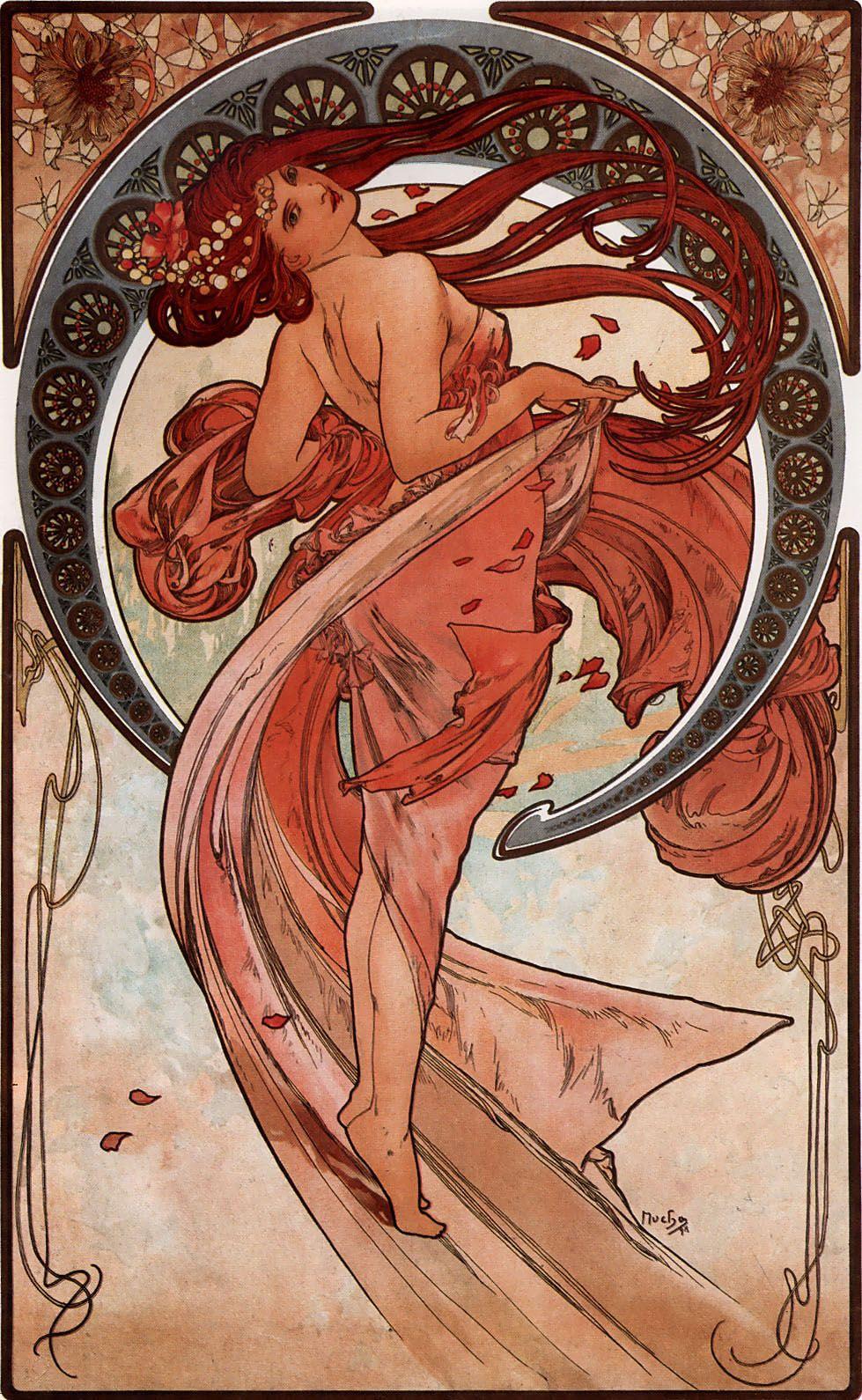 Alfons Mucha. Art: Dance