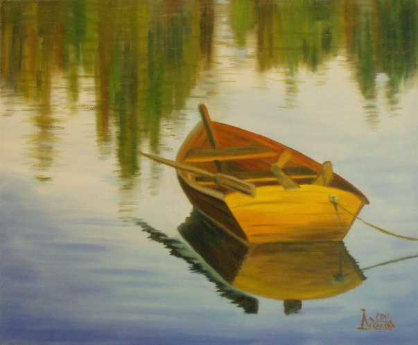 Larissa Lukaneva. Boat