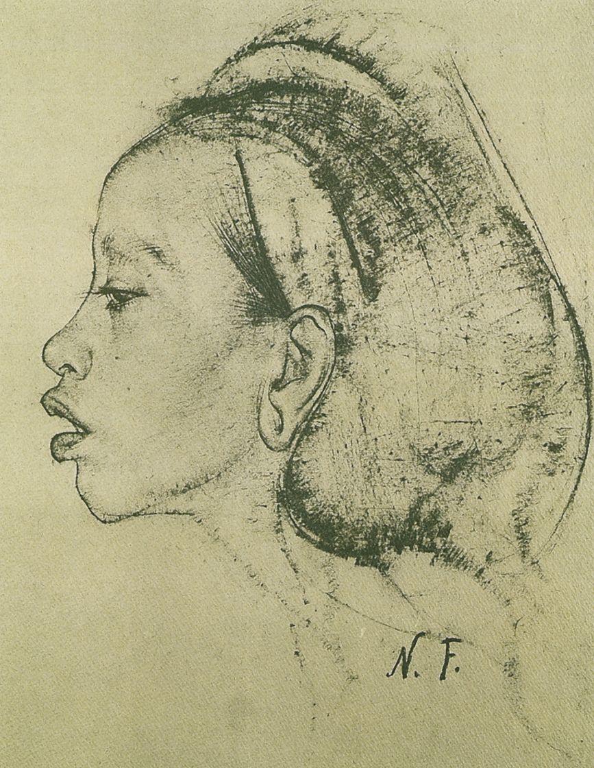 Nikolay Feshin. Female head