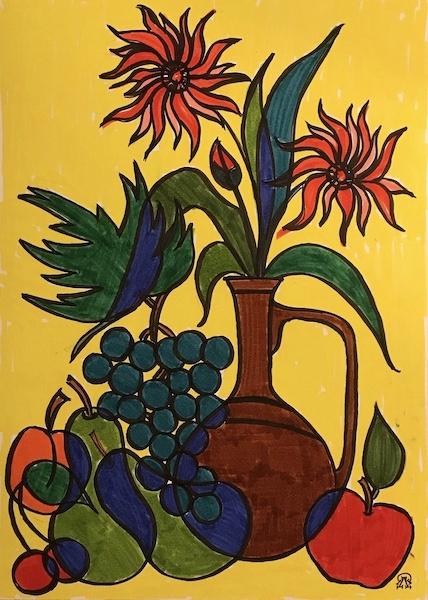 Larissa Lukaneva. Decorative still life