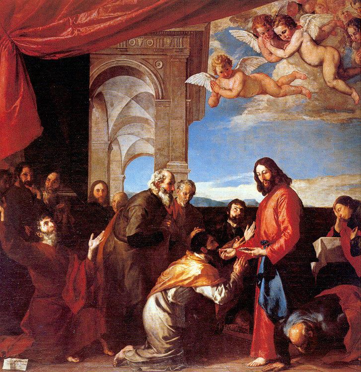 Jose de Ribera. The sacrament of the Holy apostles