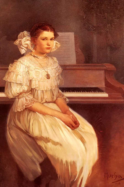 Alfonse Mucha. Portrait Of Milada Black