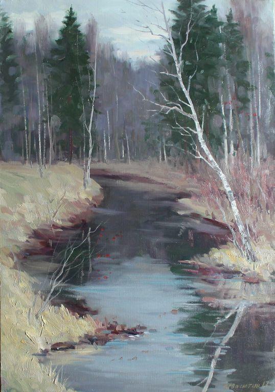 Anatoly Ivasyutin. Late fall. Gladyshevka river