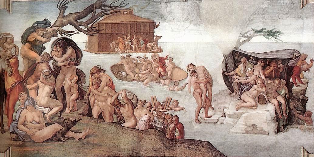 Микеланджело Буонарроти. Потоп.