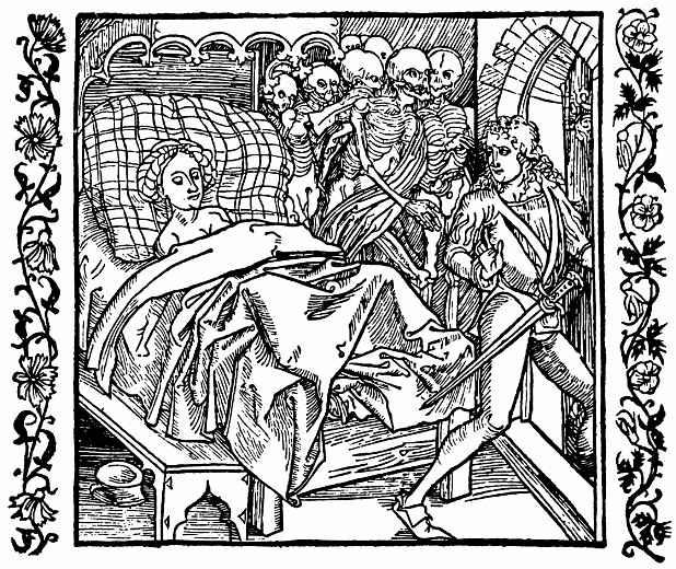 Альбрехт Дюрер. Дочь императора Константинополя охраняют от нескромного рыцаря