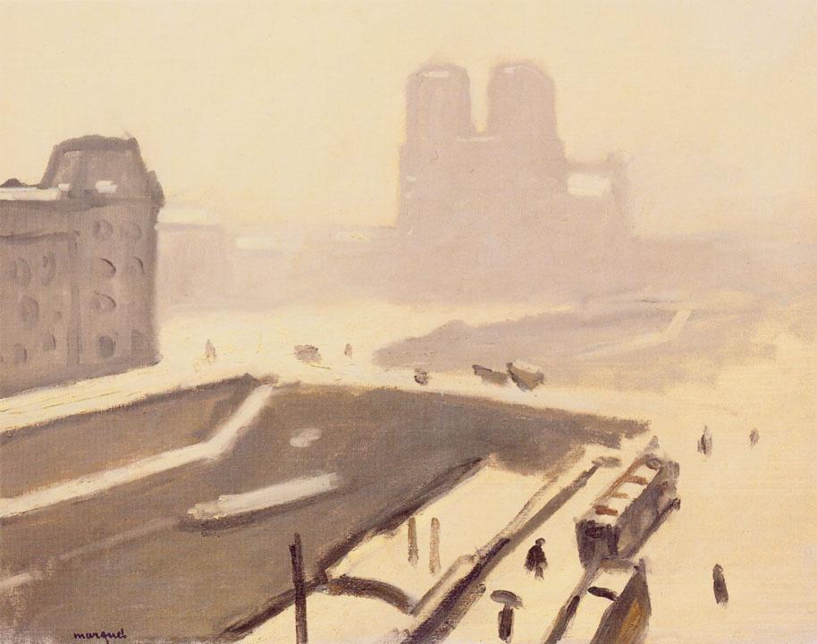 Albert Marquet. Notre Dame de Paris cathedral in winter