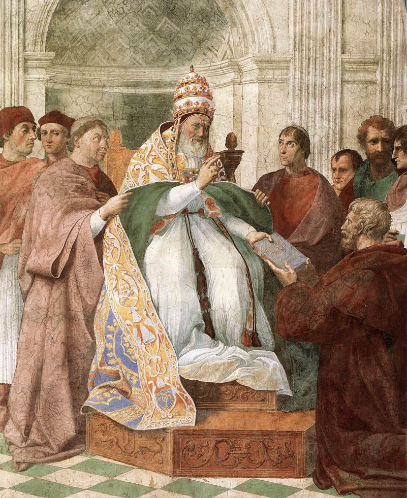 Рафаэль Санти. Папа Григорий Девятый утверждает декреты