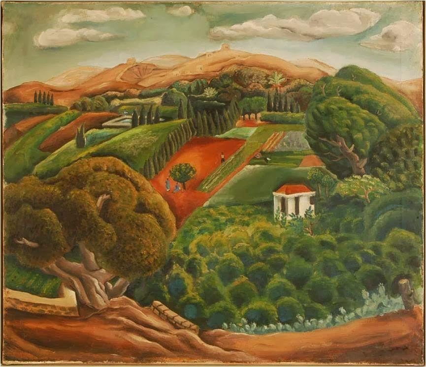 Nahum Gutman. Valley landscape