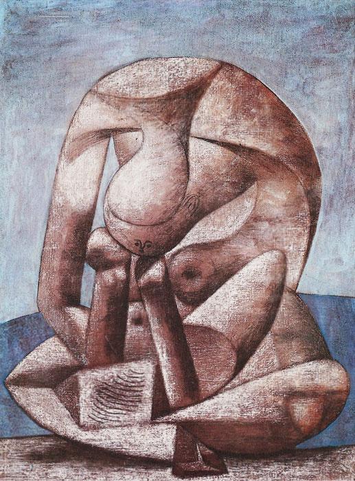 Пабло Пикассо. Большая купальщица с книгой
