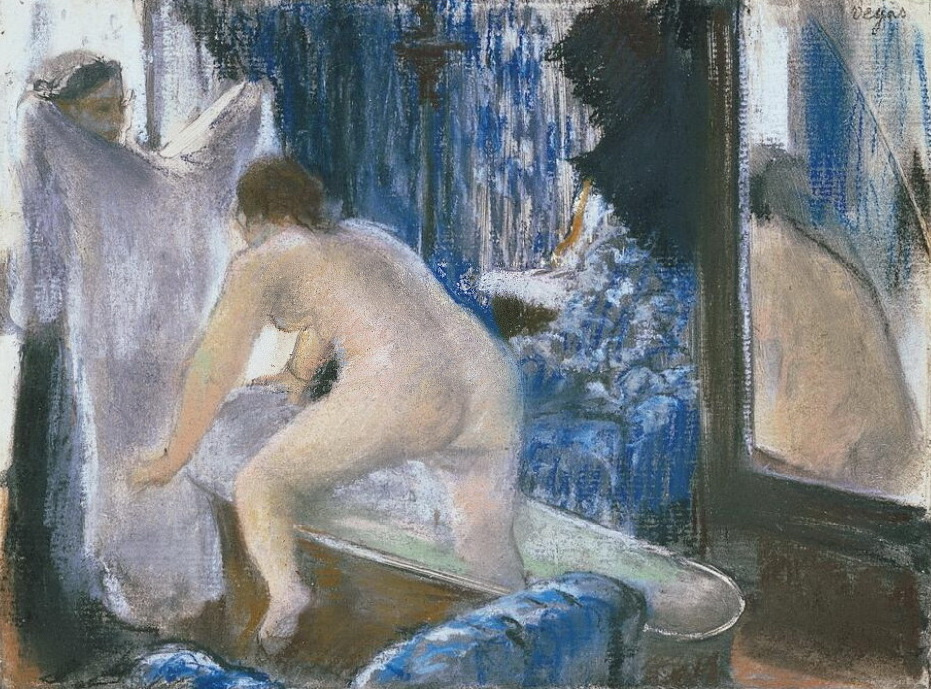 Edgar Degas. The girl coming out of bathroom