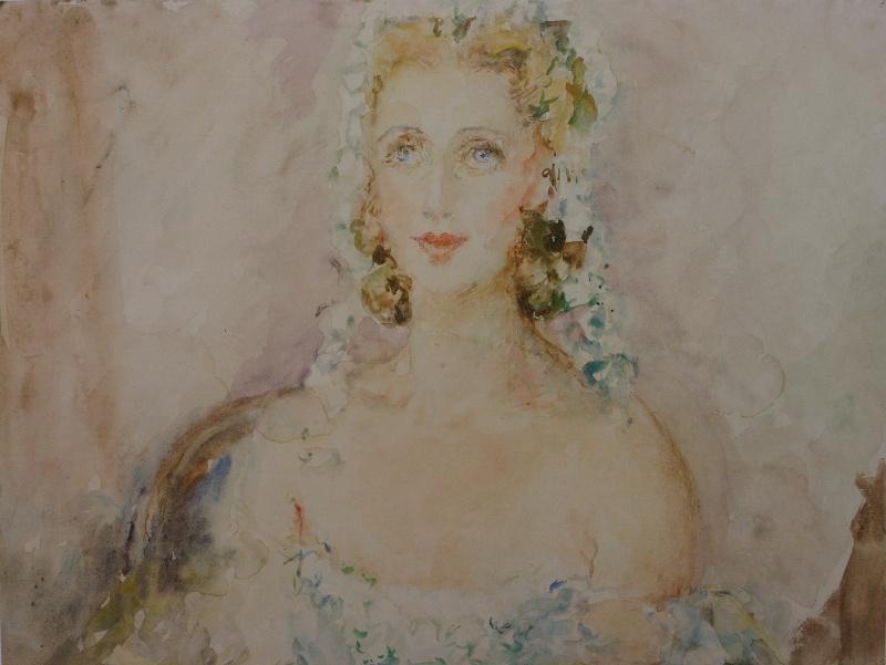 Артур Владимирович Фонвизин. Женский портрет. 1940-е