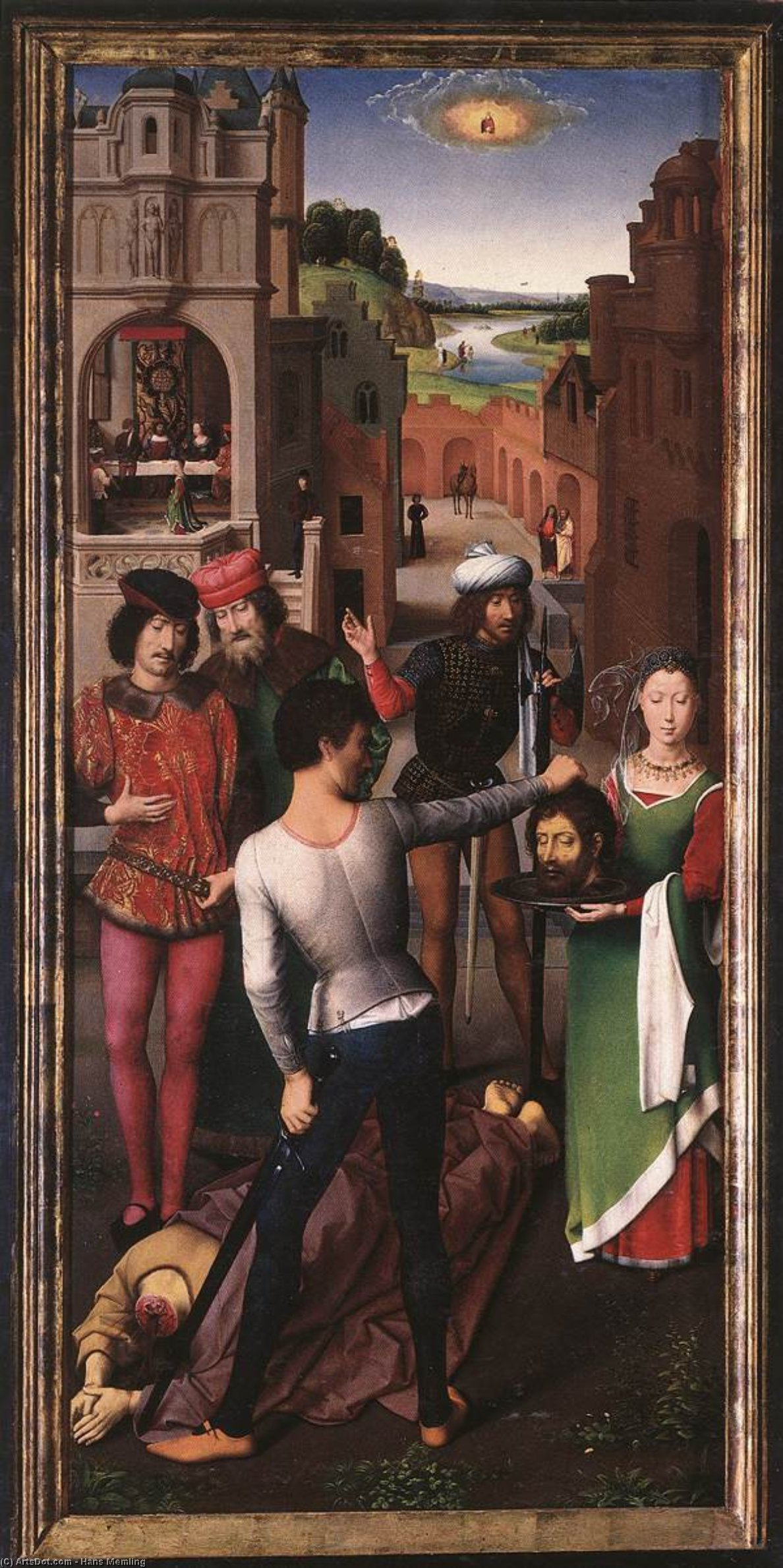 Hans Memling. The beheading of St. John the Baptist. The altar of the two Johns. Left wing