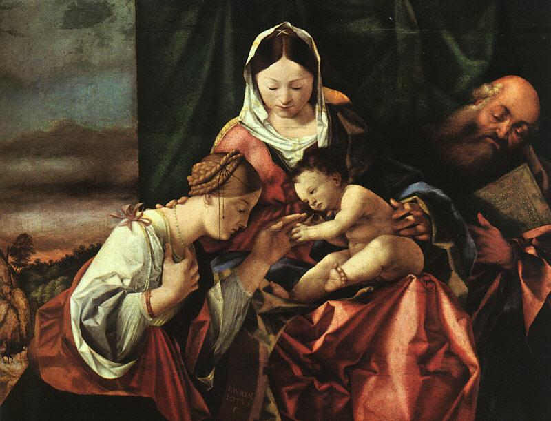 Лоренцо Лотто. Мистическое обручение Святой Екатерины