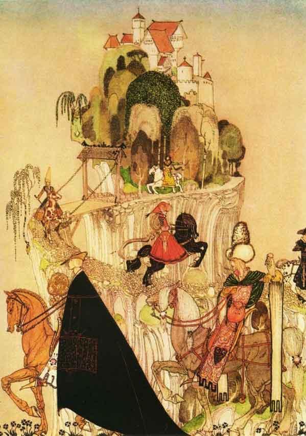 Кей Нильсен. Иллюстрация к  сказке  На восток от солнца, на запад от луны 04
