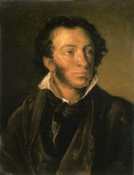 Vasily Andreevich Tropinin. Portrait Of A. S. Pushkin. Etude
