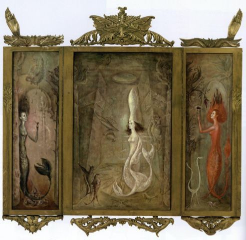 Leonora Carrington. The dream of the sirens. Triptych