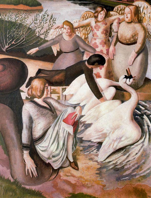 Stanley Spencer. Swans