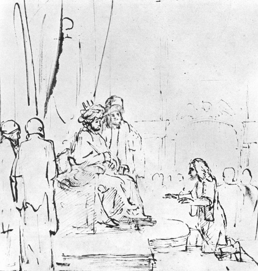 Рембрандт Ван Рейн. Иосиф перед фараоном