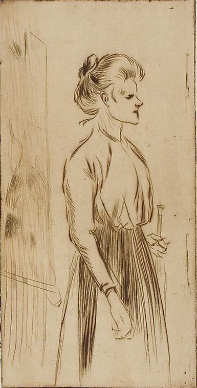 Theophile-Alexander Steinlen. Hard woman