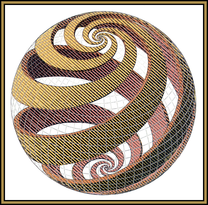 Maurits Cornelis Escher. Spiral sphere