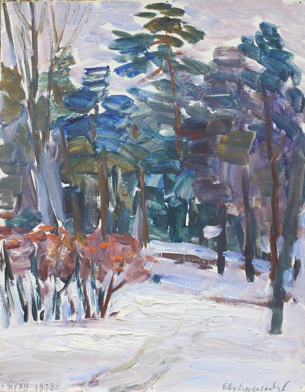 Eugene Mikhailovich Emelyanov. In the woods. Dec. 31