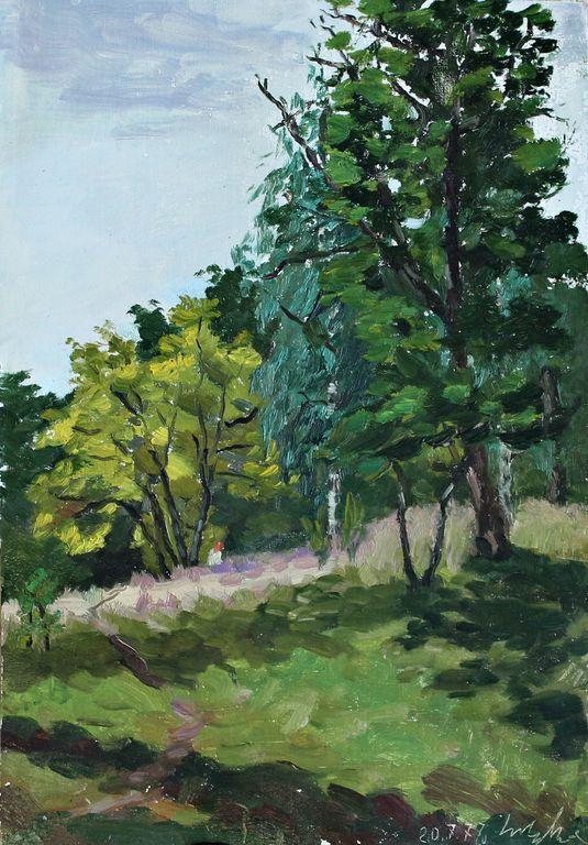 Vladimir Vladimirovich Kuznetsov. Mountain ash in the meadow