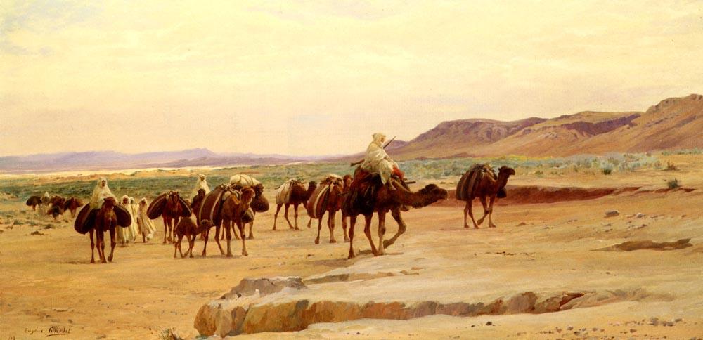 Евгений-Алексис Жирар. Караваны соли в пустыне