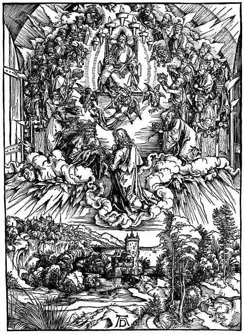 Альбрехт Дюрер. Иоанн предстает перед Богом