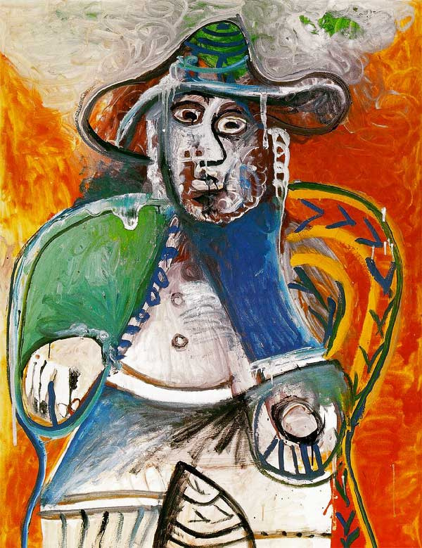 Pablo Picasso. Sitting man