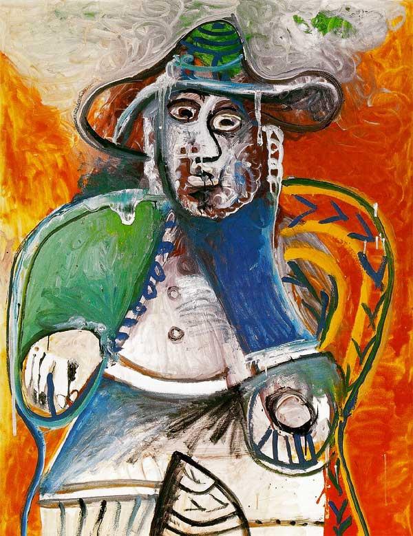 Пабло Пикассо. Сидящий старик